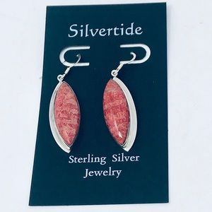 Jewelry - Red Coral Sterling Silver 925 Earrings